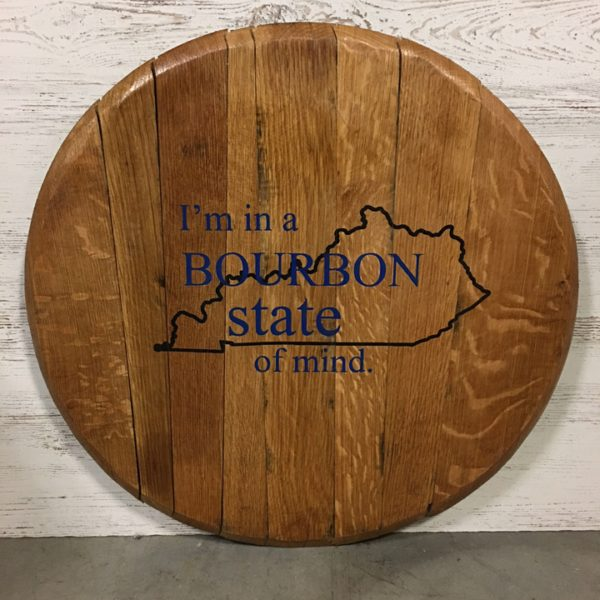 bourbon state of mind barrel head finished