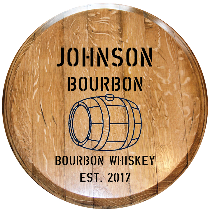 Custom Bourbon Barrel Head 4 Relic Lexington