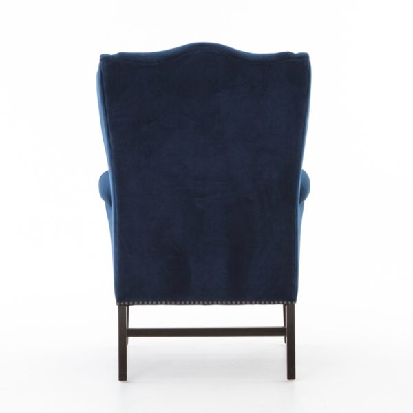 four hands navy wing chair 4