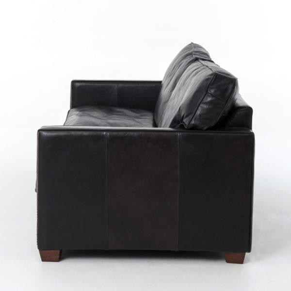 larkin sofa black side detail
