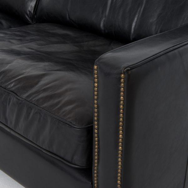 larkin black sofa arm detail