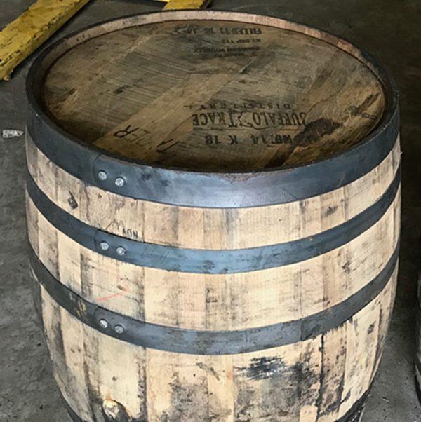 unfinished full size bourbon barrels