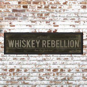 Framed Black Whiskey Rebellion Print