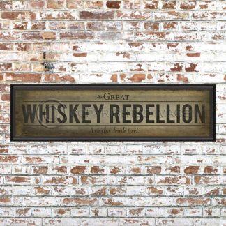 Framed White Whiskey Rebellion Print