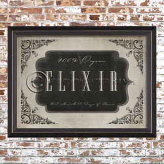 Framed Elixir Print
