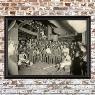 Framed 1901 Boxing Match Print