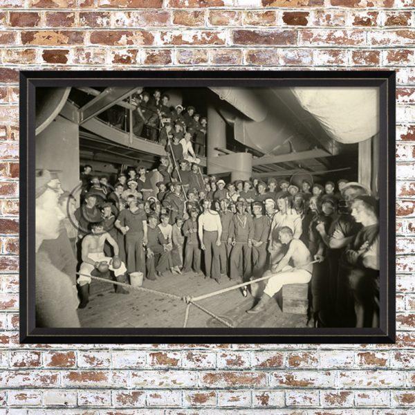 Framed 1901 Boxing Match Print