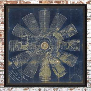 Framed Blue Magnetic Atlas Print