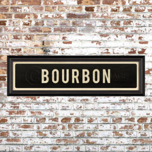 Framed Bourbon Placquard