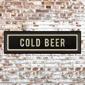 Framed Cold Beer Placquard