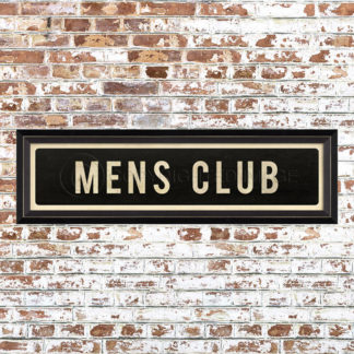Framed Mens Club Placquard