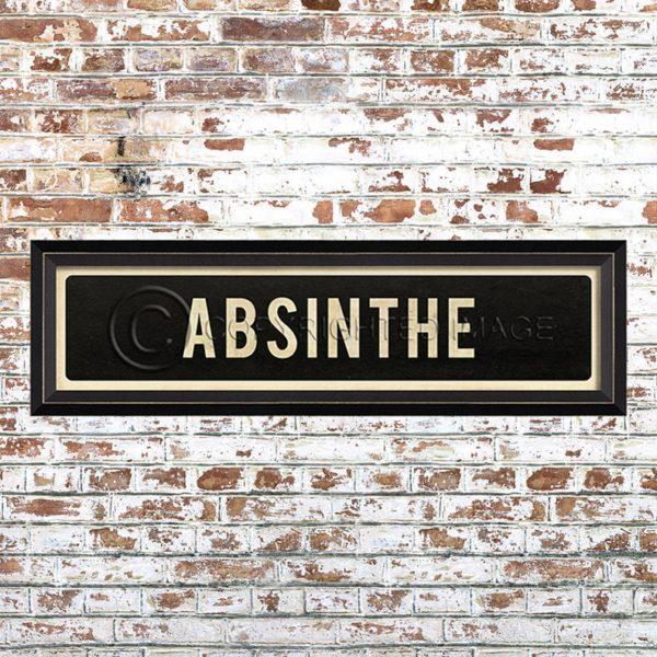 Framed Absinthe Placquard