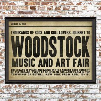 Woodstock Festival Print