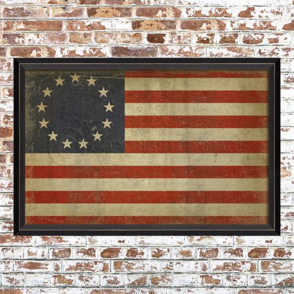 1776 Ross Flag Print
