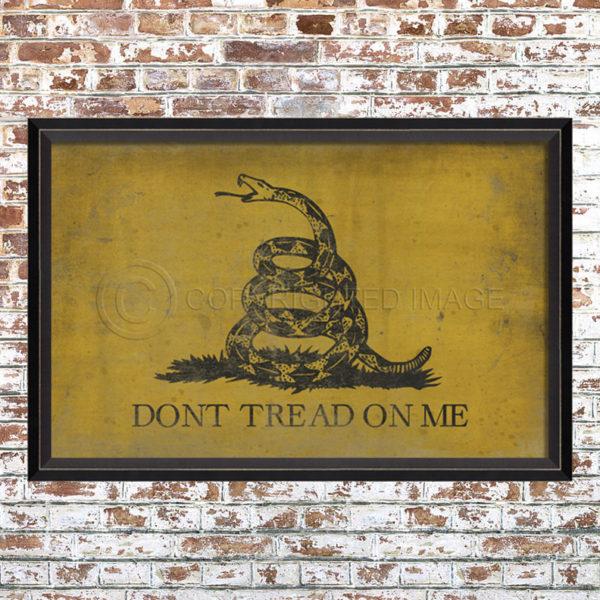Don't Tread on Me Flag Print