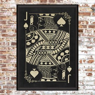 Framed Black Jack of Spades Print