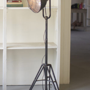 kalalou caged metal studio floor lamp