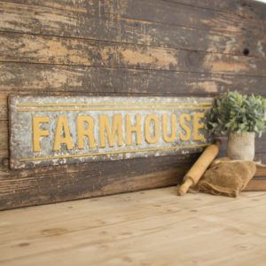 metal farmhouse sign