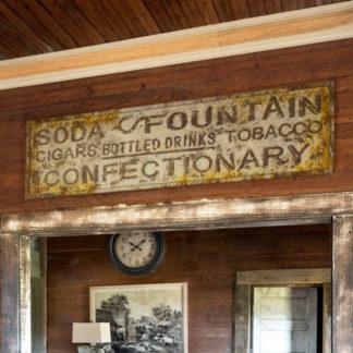 vintage metal general store sign