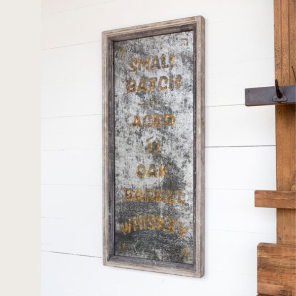 vintage smoked whiskey mirror