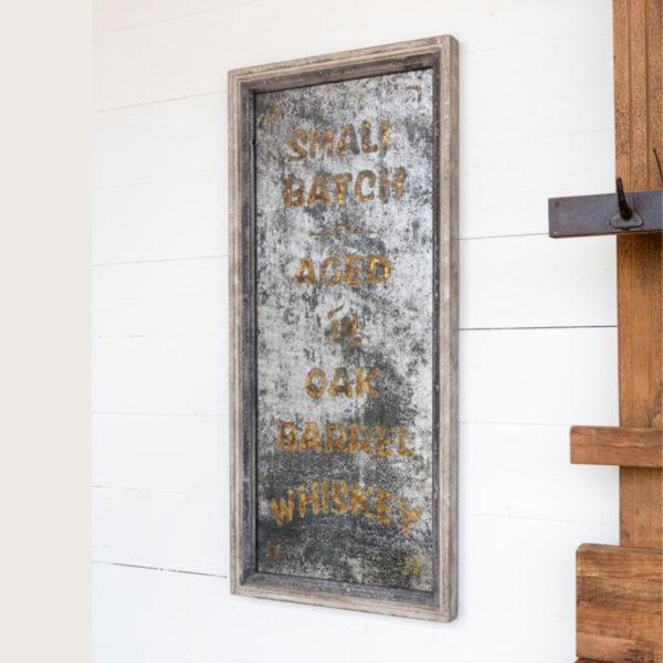 vintage smoked whiskey mirror