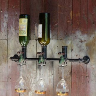 Wine Bottle Spigot Display