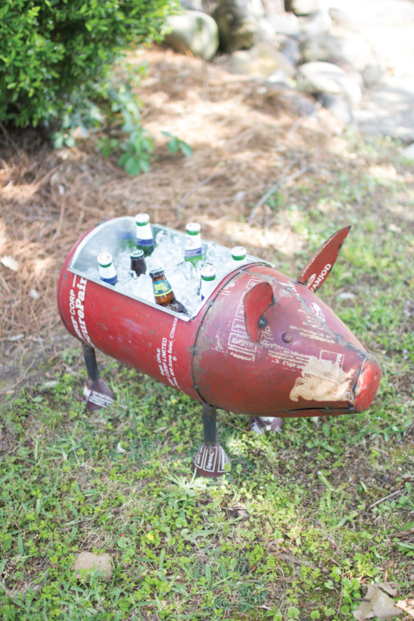 recycled iron pig cooler