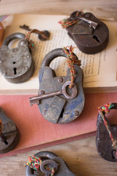 antique iron locks