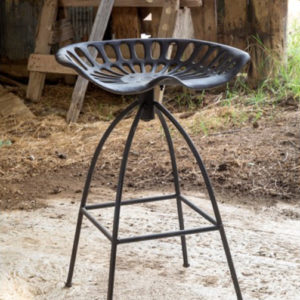 vintage tractor seat barstool