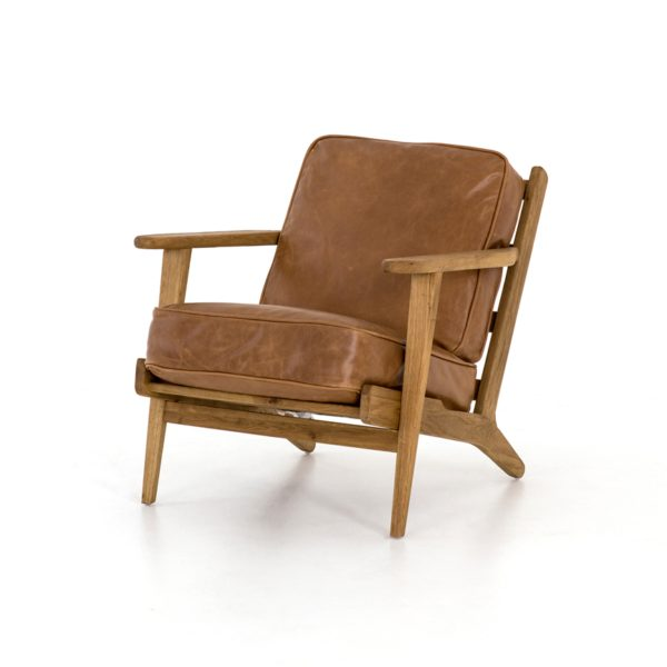 four hands brooks lounge chair palomino