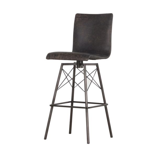 four hands diaw barstool black