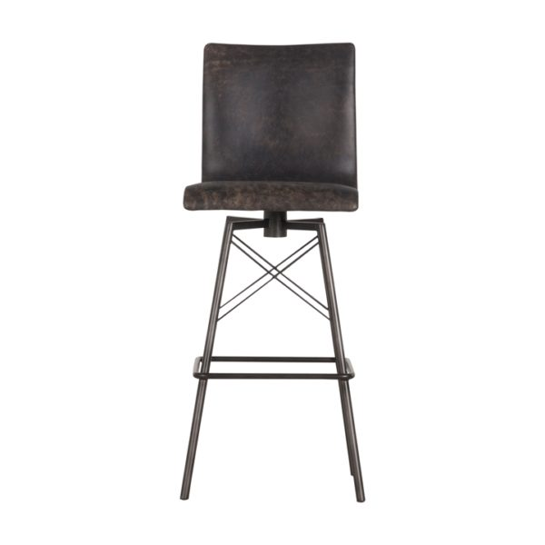 four hands diaw barstool black 2