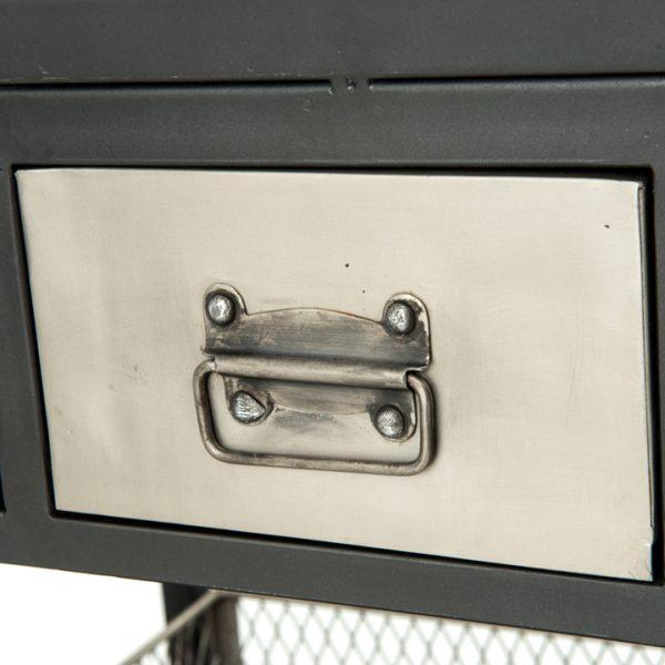four hands industrial bar cart 4