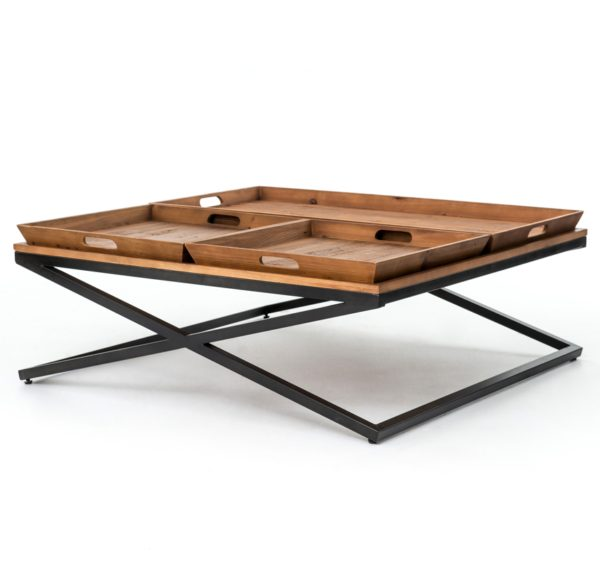 four hands jax coffee table