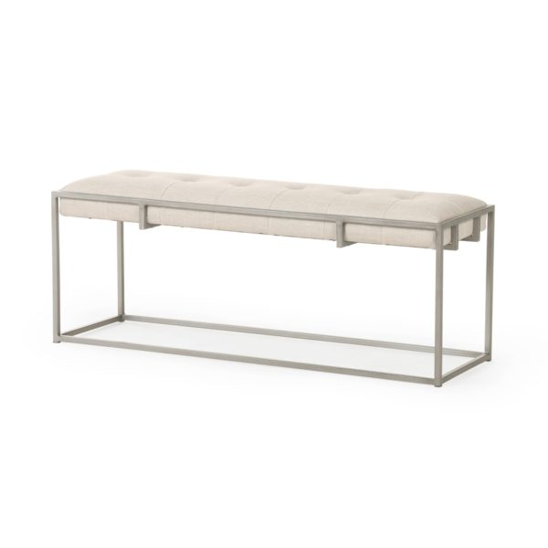four hands oxford bench sand