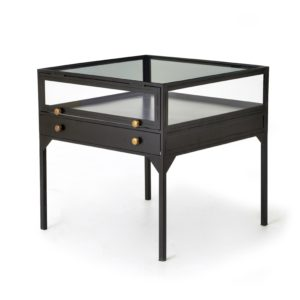 four hands shadow box end table