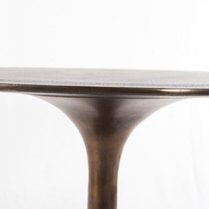 four hands tulip side table rust 2