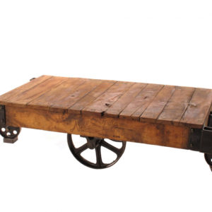 Vintage Railroad Cart Table