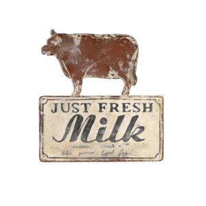 vintage milk metal sign
