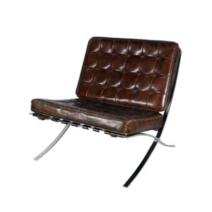 vintage tufted leather chair