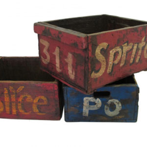 vintage painted mill box