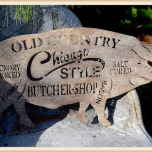 Butcher Pig Plaque