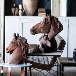 vintage rusted horse head