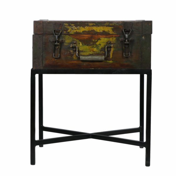army crate side table