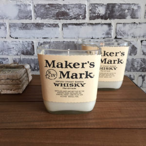 maker's mark bourbon candle