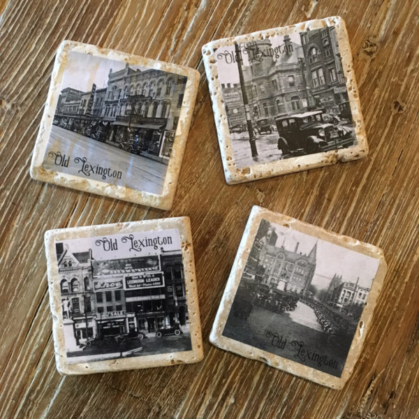 old lexington drink coasters