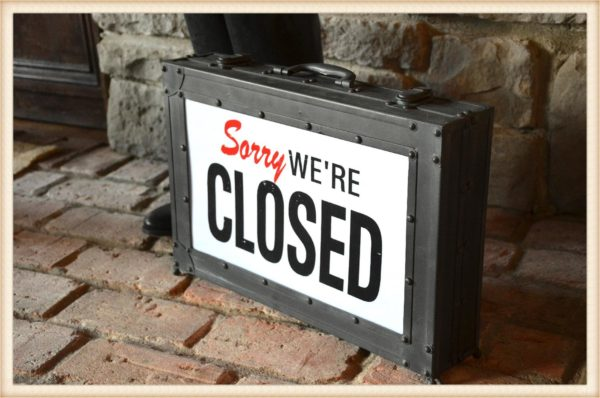 Open Closed Trunk Sign