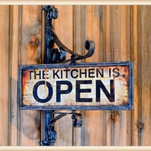 Kitchen Swivel Sign
