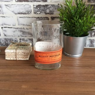 recycled bulleit bourbon cut bottle
