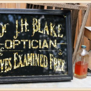 Vintage Glass Optician Sign